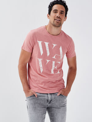 T shirt eco responsable rose homme