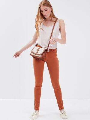 Pantalon Audrey  skinny push up marron clair femme