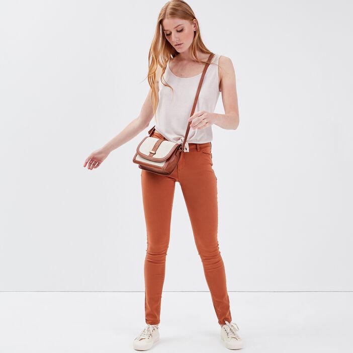 Pantalon Audrey - skinny push up marron clair femme