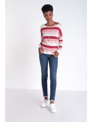 Jeans slim 7 poches denim brut femme