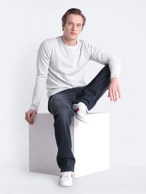 Jeans regular denim gris homme
