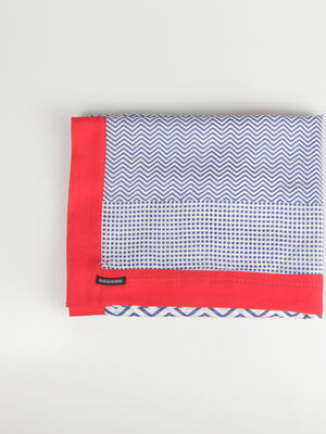Foulard imprime bleu femme