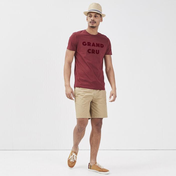 T-shirt éco-responsable rouge foncé homme
