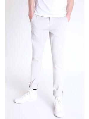 Pantalon chino slim Instinct gris clair homme