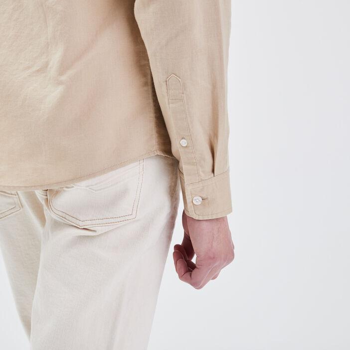 Chemise éco-responsable beige homme