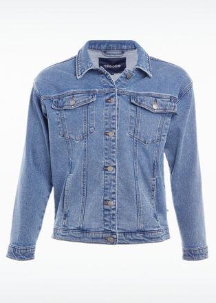 Veste en jean denim used femme