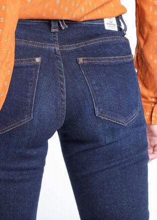 Jeans slim 5 poches denim brut femme