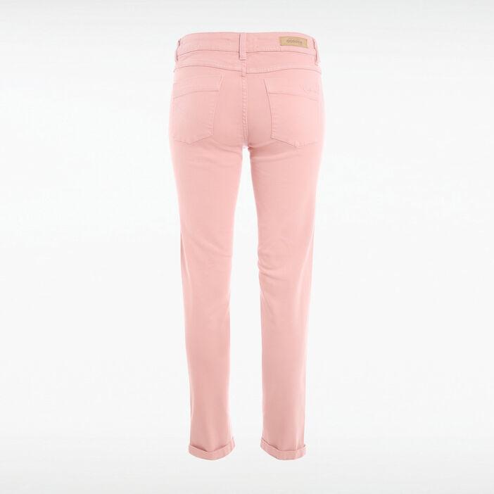 Pantalon Instinct slim rose pastel femme