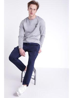 Jeans loose avec cordons denim brut homme