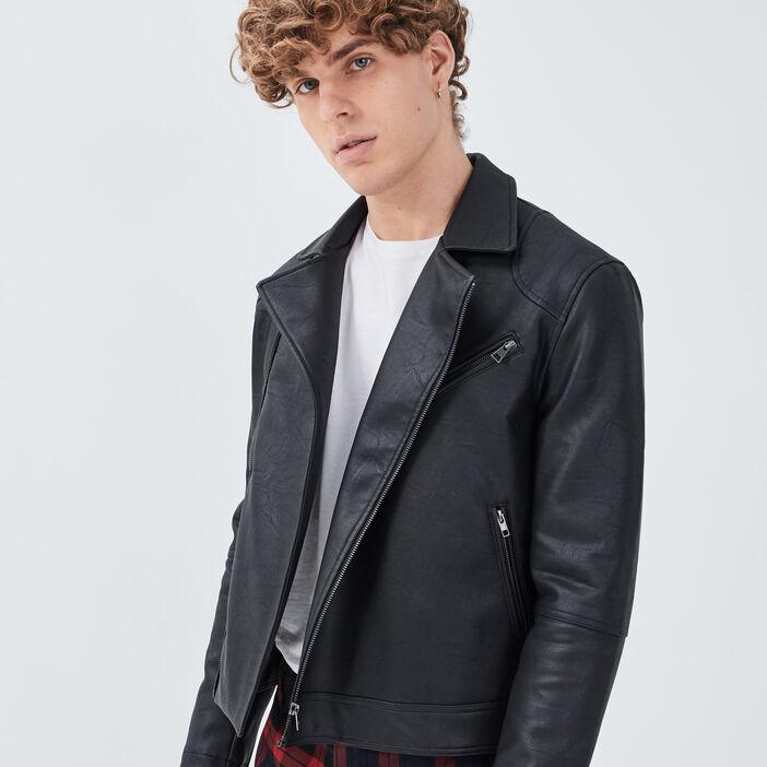 Veste ajustée à détails zippés noir homme