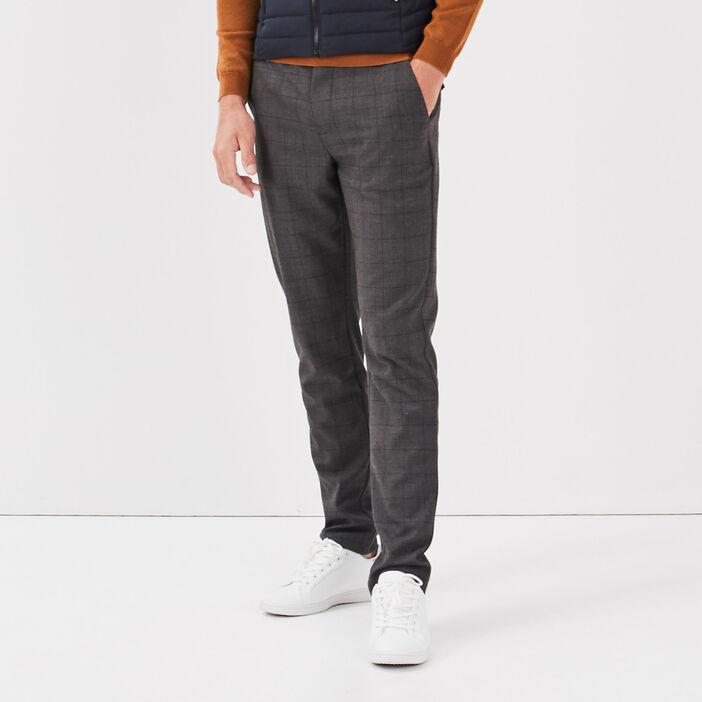 Pantalon chino gris foncé homme