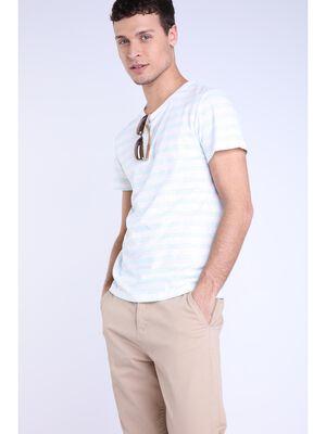T shirt lin ecru homme
