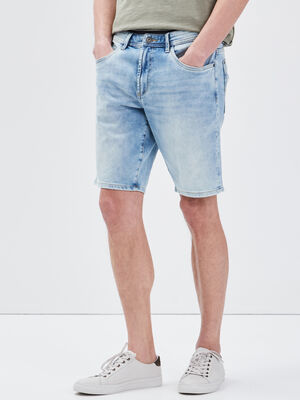 Bermuda eco responsable denim bleach homme