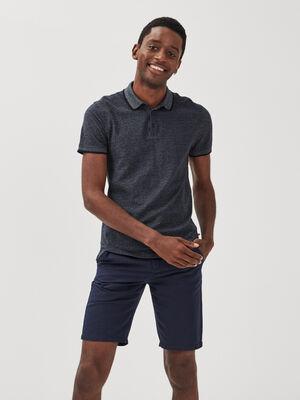 Polo Instinct manches courtes bleu fonce homme