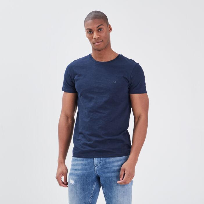 T-shirt Instinct col rond bleu marine homme