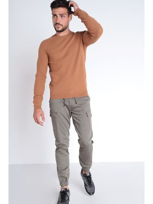 Pull Instinct manches longues marron clair homme