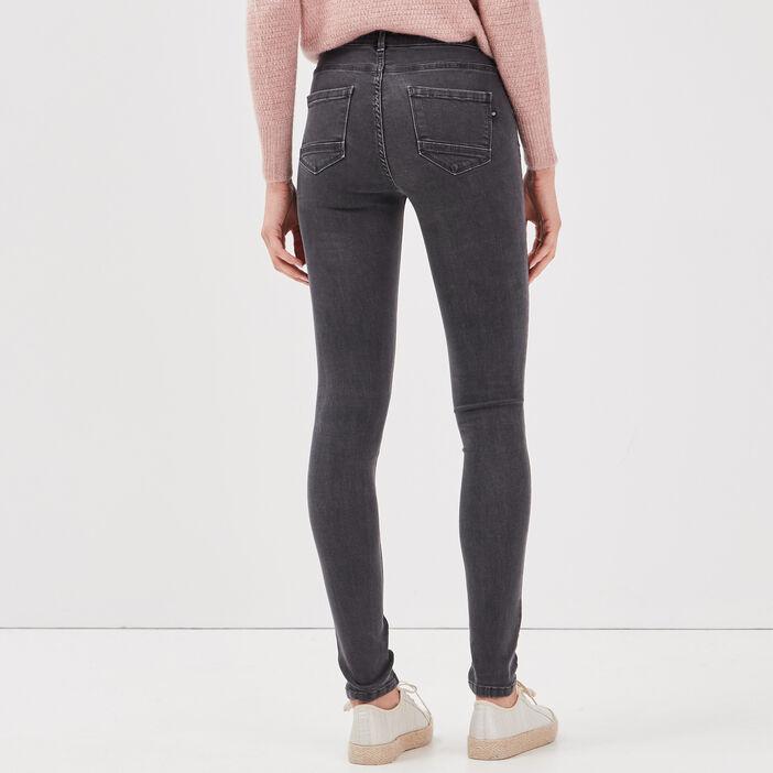 Jeans Lou - jegging en coton bio gris foncé femme