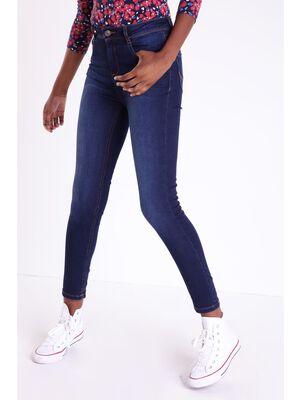 Jeans slim taille haute Instinct denim brut femme