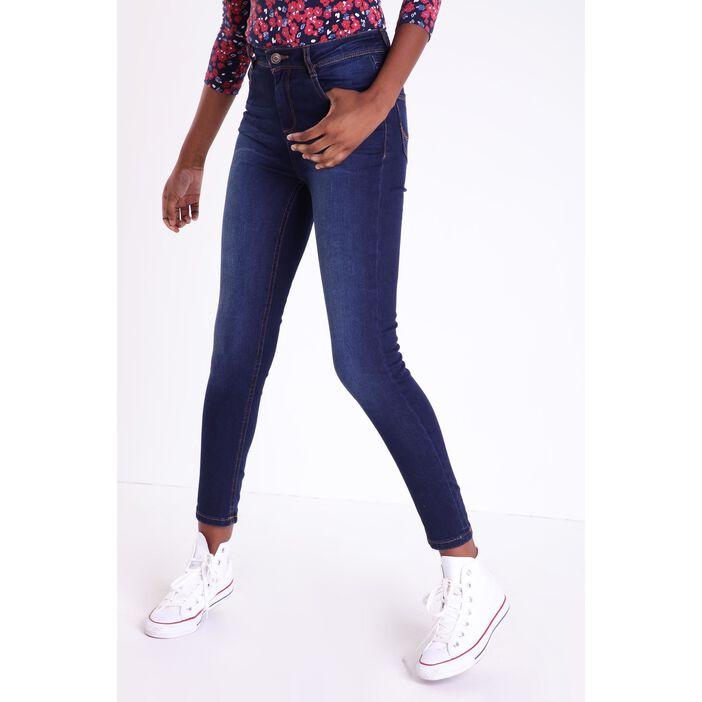 nouveau style 4f7ea 3b8eb Jeans slim taille haute Instinct denim brut femme | Vib's