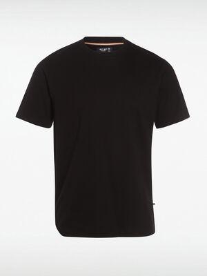T shirt Instinct col rond noir homme