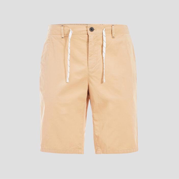 Short court à cordons rayés beige homme