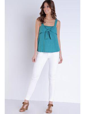 Jeans skinny push up blanc femme