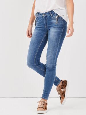 Jeans skinny details pampilles denim used femme