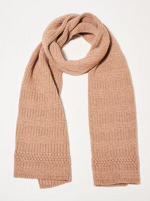 charpe tricotee marron femme