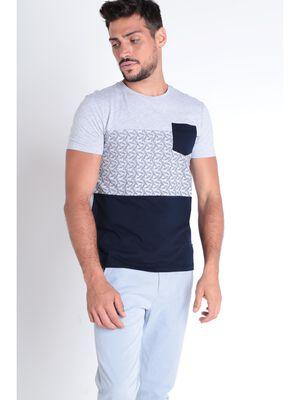 T shirt manches courtes bleu marine homme