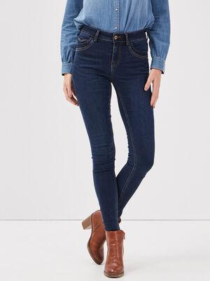 Jeans skinny taille standard denim brut femme