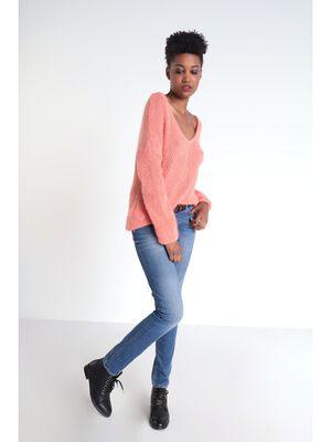 Jeans slim 7 poches denim stone femme