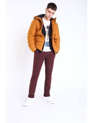 pantalon chino regular homme instinct bordeaux