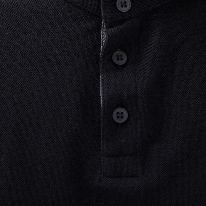 Polo manches longues noir homme