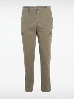 Pantalon cargo 6 poches vert kaki homme