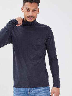 T shirt manches longues bleu fonce homme