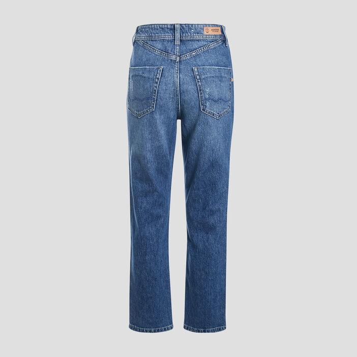 Jeans regular taille haute denim stone femme