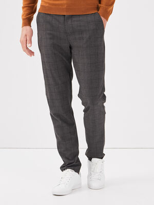 Pantalon chino gris fonce homme