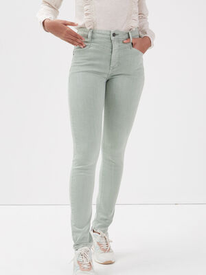Pantalon eco responsable vert pastel femme