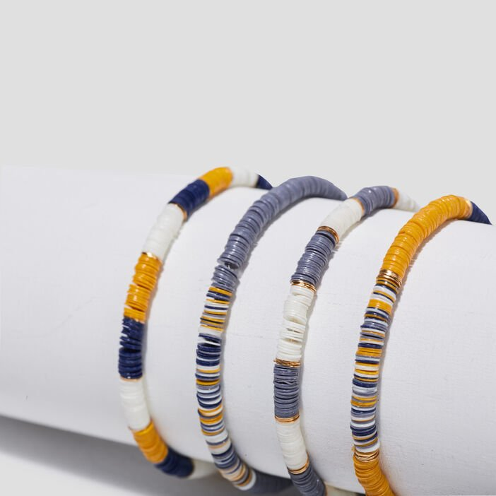 Lot 4 bracelets bleu gris femme