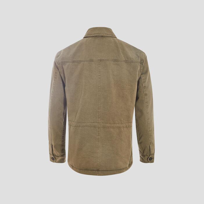 Veste droite à 4 poches vert kaki homme