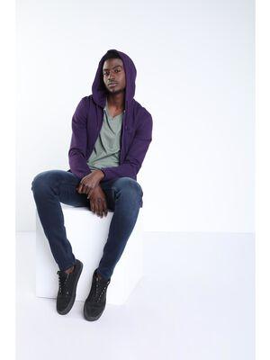Jeans skinny poche zippee denim blue black homme