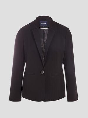 Veste blazer droite noir femme