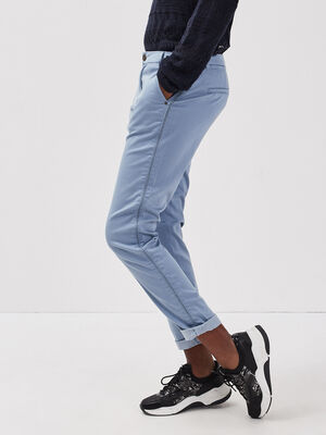 Pantalon chino Instinct bleu gris femme