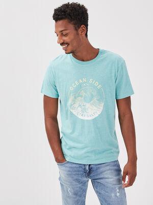 T shirt eco responsable vert homme