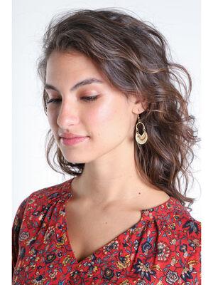 Boucles doreilles pendantes couleur or femme