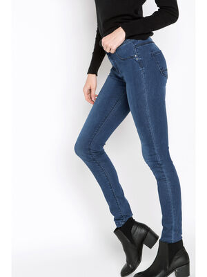 Jeans jegging skinny taille haute denim stone femme
