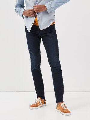 Pantalon slim denim blue black homme