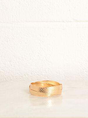 Bracelet anneaux entrecroises couleur or femme