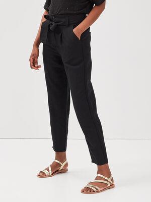 Pantalon eco responsable noir femme
