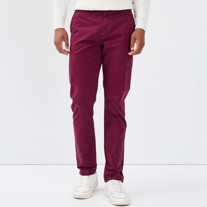 Pantalon slim Instinct chino prune homme